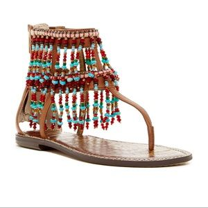 Sam Edelman Gabriel Beaded Sandals size 10